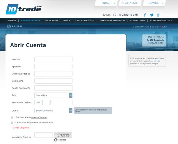 10 Trade Abrir Cuenta
